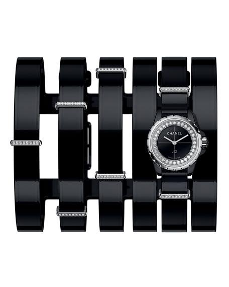 J12 XS Black Wide Cuff Watch