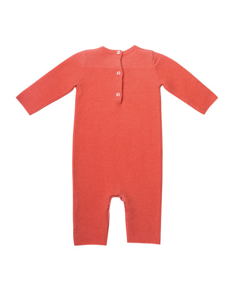 Knit Cotton Coverall, Size 1-12 Months