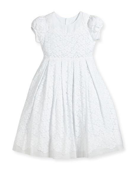 Gala Organdy Lace Dress, Size 4-6