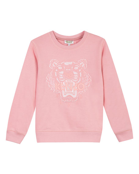 Image 1 of 1: Tiger Face Icon Sweatshirt, Sizes 8-12