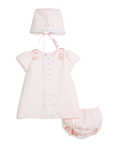 Pink Pique Drs wDiaper Cover