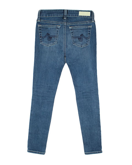 Girls' Twiggy Swamp Meet Distressed Ankle Cropped Jeans, Size 7-14