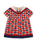 Logo Fruit-Print Pleated Dress, Size 9-36 Months