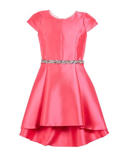 The Jennifer Matte Sateen Swing Dress  Size 7-16