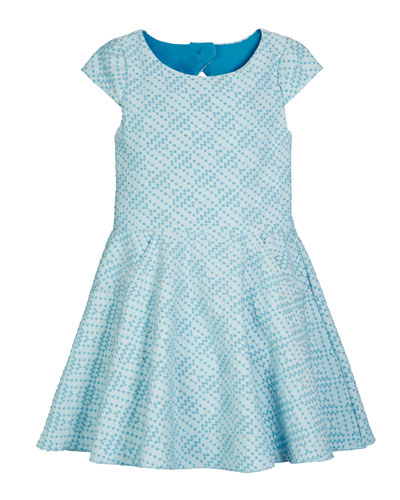 Metallic Studded Knit Pocket Dress  Size 7-16