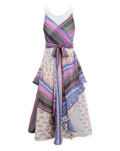 Scarf Print Maxi Dress  Size 7-16