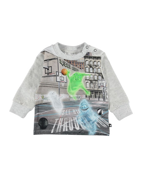 Image 1 of 1: Eloy Ghosts Playing Basketball Graphic Tee, Size 6-24 Months