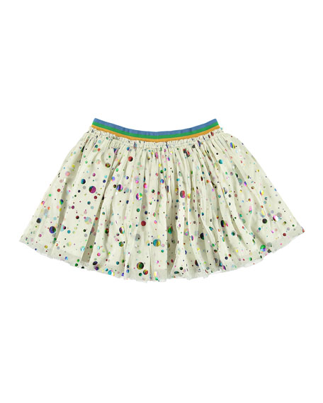 Foil Dots Tulle Skirt, Size 5-14