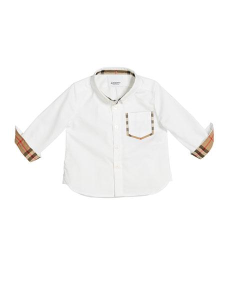 Boys' Harry Checked-Trim Shirt, Size 6M-2