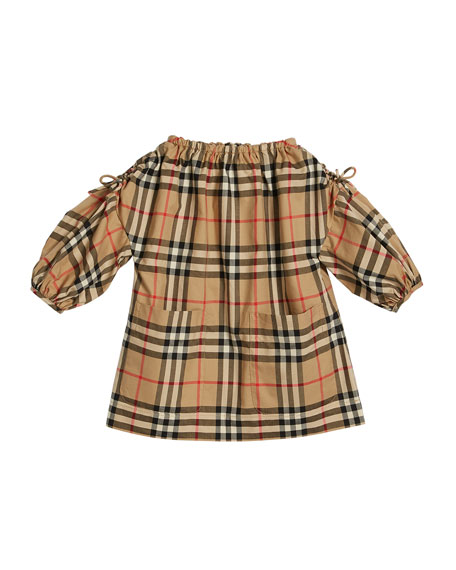Image 1 of 1: Alenka Archive Check Long-Sleeve Dress, Size 6M-2