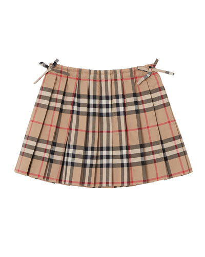 Mini Pearly Archive Check Pleated Skirt  Size 6M-2