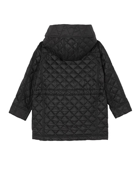 Trey Long Quilted Coat, Size 3-14