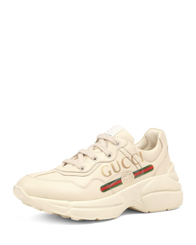 Gucci Logo Leather Sneakers  Toddler/Kids