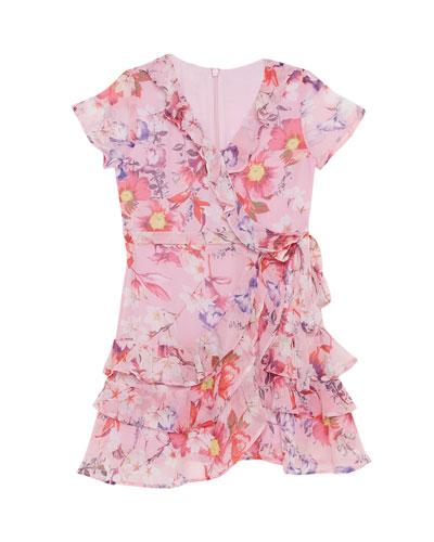 Luella Rara Floral Ruffle Dress  Size 8-16