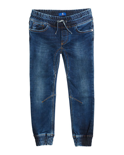 Kids' Denim Sport Trousers  Size 6-14