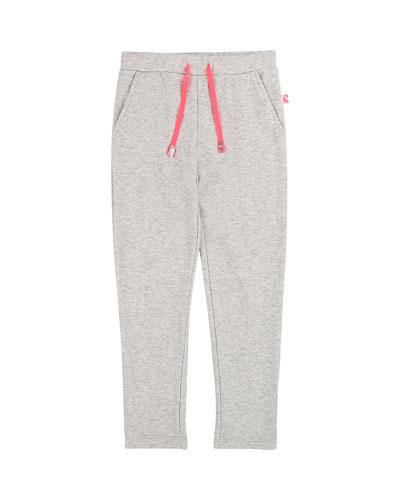 Drawstring Sweatpants w/ Ruffle & Sequin Pocket  Size 4-12