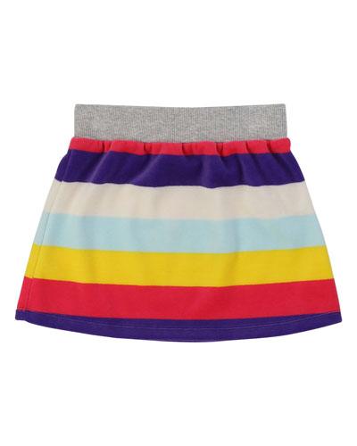 Striped Velour Skirt  Size 4-12