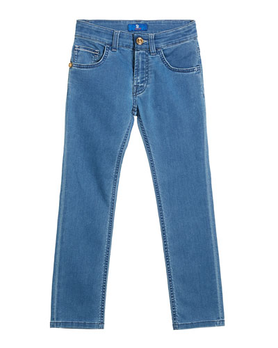 Boy's Straight Leg Denim Jeans  Size 6-14