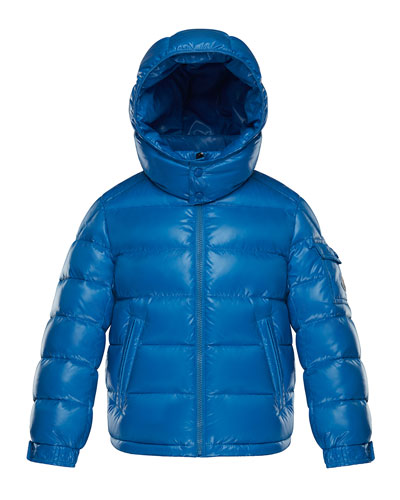New Maya Quilted Hooded Nylon Puffer Jacket  Size 4-6