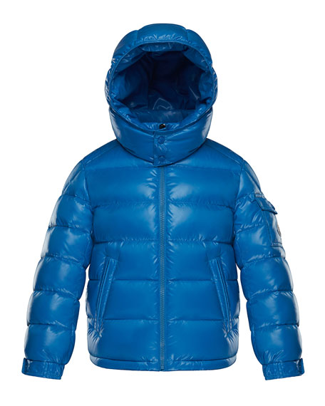 New Maya Quilted Hooded Nylon Puffer Jacket, Size 4-6