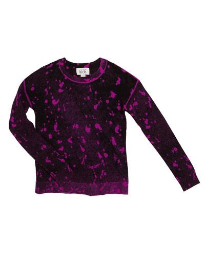 Inked Splatter Paint Sweater  Size 8-16
