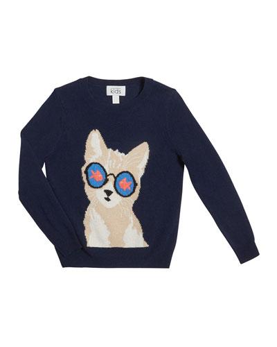 Goldfish Eye Cat Sweater  Size 8-16