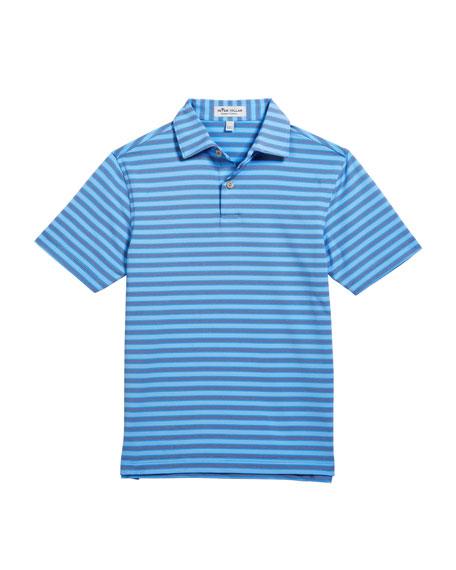 Boy's Bitter Stripe Stretch Jersey Polo Shirt, Size XS-XL