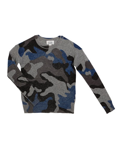 Inked Camo Sweater  Size 8-16