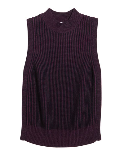 Girl's Braid Knit Sleeveless Sweater  Size 8-16