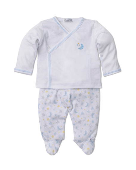 Super Stars Surplice Top w/ Printed Footed Leggings, Size Newborn-6 Months