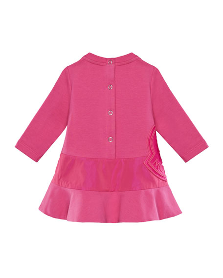 Long-Sleeve Dress w/ Side Logo Embroidery, Size 6M-3