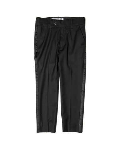 Boy's Straight Leg Tuxedo Pants  Size 2-10