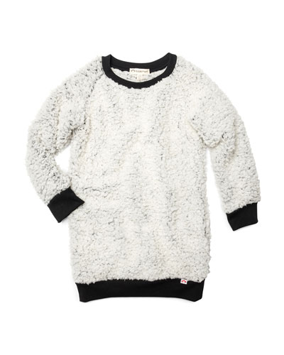 Avina Plush Fleece Long-Sleeve Dress  Size 2-14
