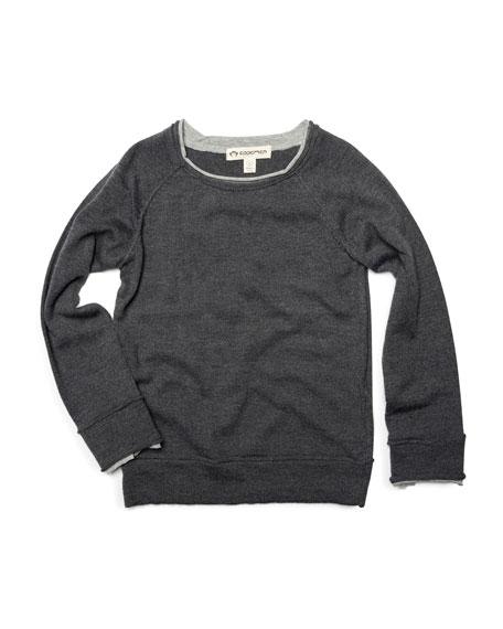 Jackson Roll Neck Raglan Shirt, Size 2-10