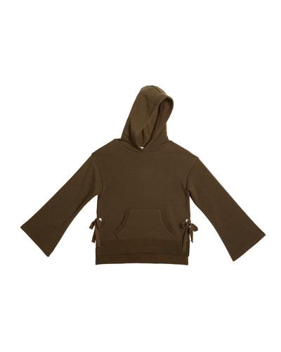 Skylar Relaxed Fleece Hoodie w/ Side Ties  Size 7-14