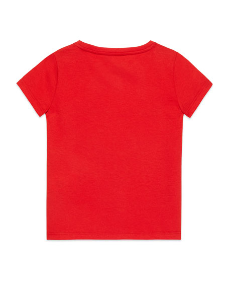 Glittered Strawberry Logo-Print Jersey Tee, Size 4-12