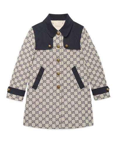 GG Jacquard Gabardine Long Coat  Size 4-12