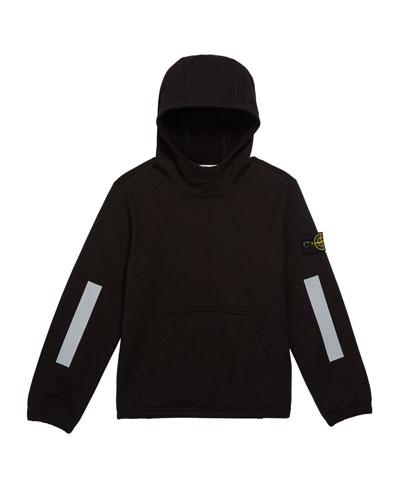 Boys' Hooded Sweatshirt w/ Kangaroo Pocket & Reflective Tape  Size 2-6
