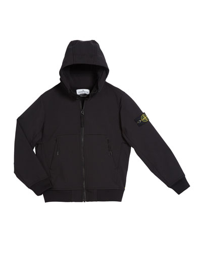 Lightweight Techno Hooded Jacket  Size 12