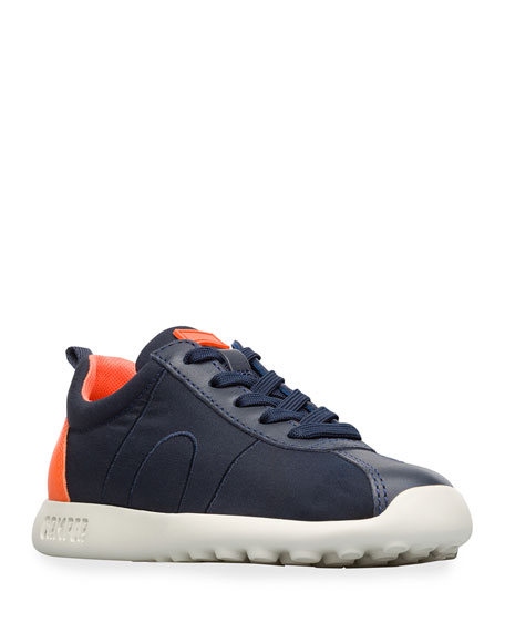Kid's Leather Trim Sneakers, Toddler/Kids