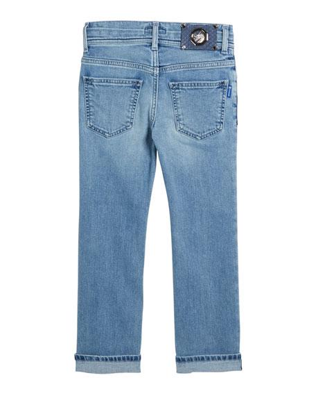 Kids' Denim Sport Trousers, Size 6-12