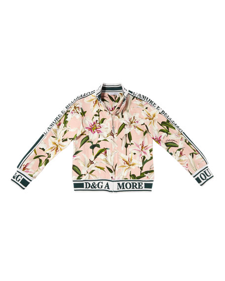 Lilly of the Valley Print Track Jacket, Size 8-12