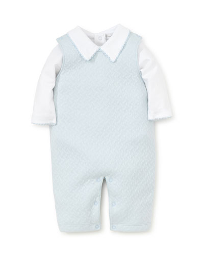 Jacquard Overalls w/ Long-Sleeve Bodysuit  Size 0-9 Months