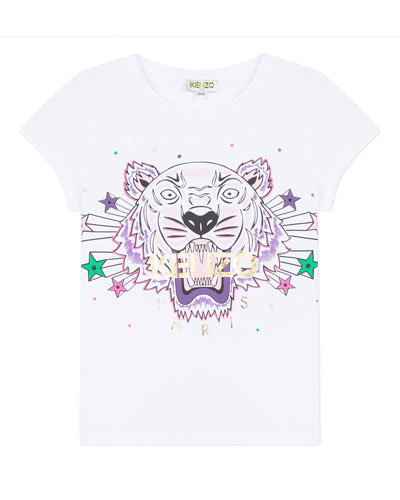Tiger & Stars Graphic Short-Sleeve Tee  Size 2-6