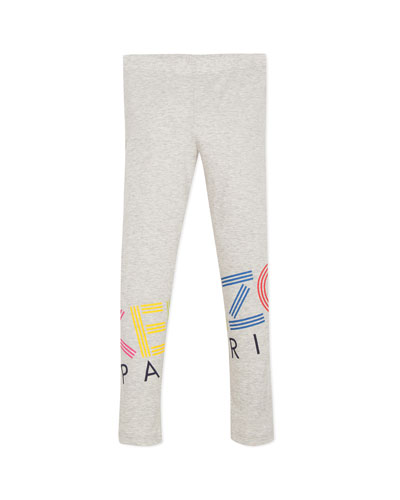 Multicolored Logo Print Leggings  Size 2-6