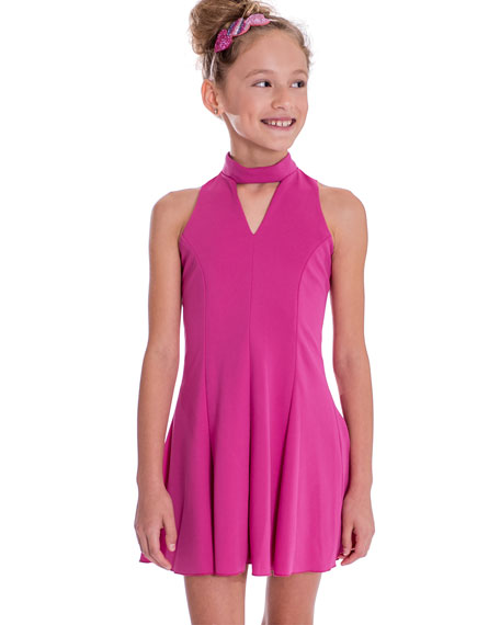 Rowan Stretch Crepe Halter Dress, Size 7-16