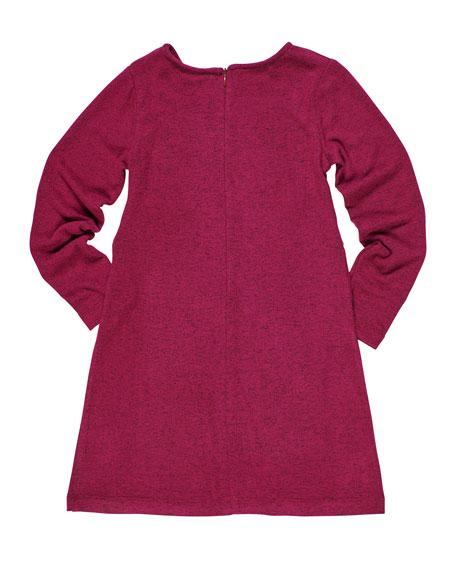 Heather Knit Tie Front Dress, Size 7-14