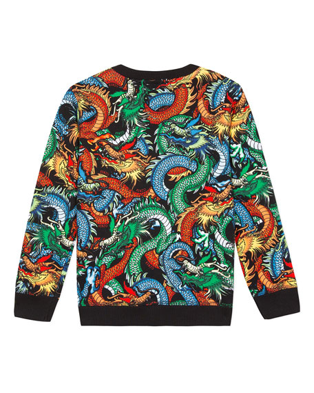 Dragon Print Sweatshirt, Size 2-6
