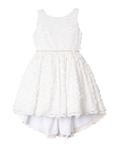 Flower Lace High-Low Dress  Size 4-6X