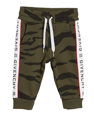 Boy's Camo Sweatpants w/ Logo Taping  Size 12M-3